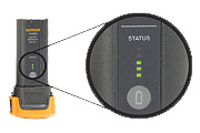 Smart batteries with handy LED charge level indicator