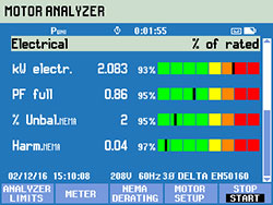 screen view motor analyzer electrical