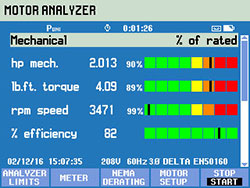 screen view motor analyzer mechanical